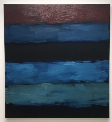 Sean Scully, Landline Blue Veined (2016), via Art Observed