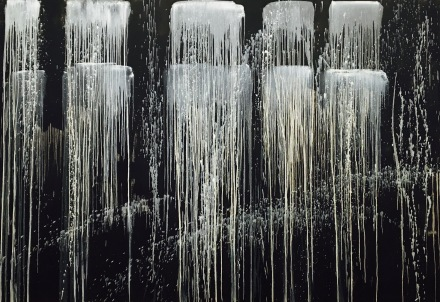 Pat Steir, Dragon Tooth Waterfall (1990), via Art Observed