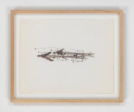 Gordon Matta-Clark, Arrows (notebook) (1974), via Marian Goodman
