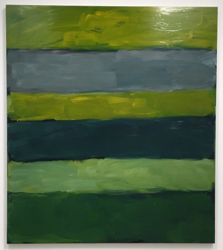 Sean Scully, Landline Green Green (2015), via Art Observed