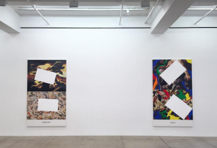 John Baldessari, Pollock/Benton (Installation View), via Art Observed