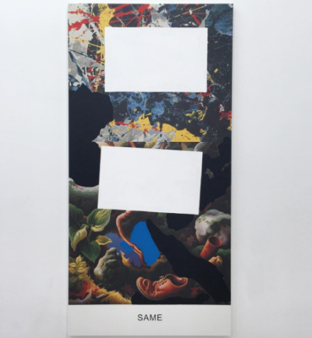 John Baldessari, Pollock/Benton: Same (2016), via Art Observed