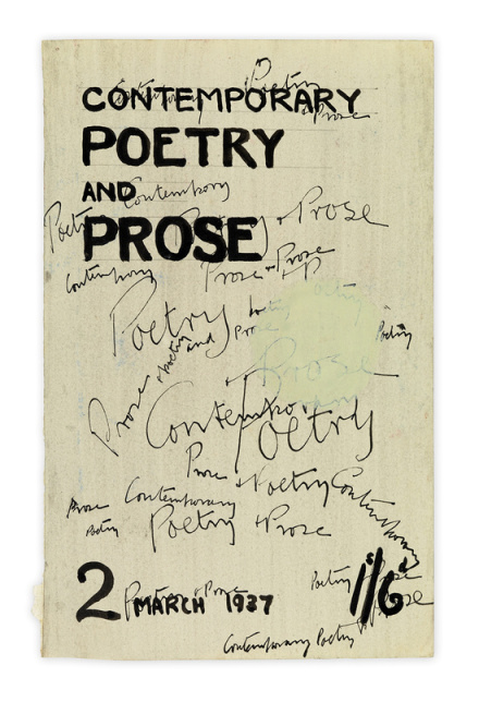 Henry Moore, Cover Design for Contemporary Poetry and Prose, 1937