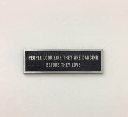 Jenny Holzer, Survival: People Look Like They Are Dancing (1984), via Art Observed