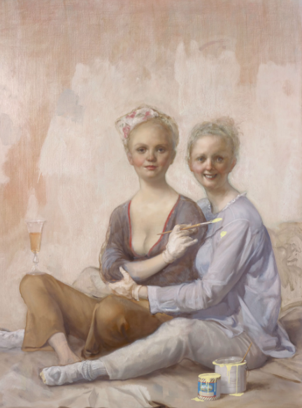 John Currin, Happy House Painters (2016), via Sadie Coles