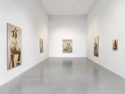 John Currin, (Installation View), via Sadie Coles