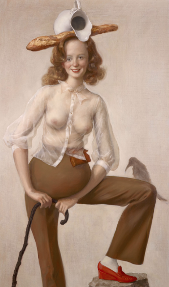 John Currin, Red Shoes (2016), via Sadie Coles