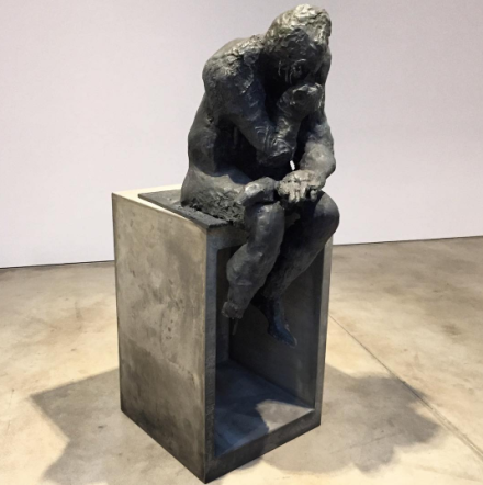 Liz Glynn, Untitled (after Thinker) (2014), via Art Observed