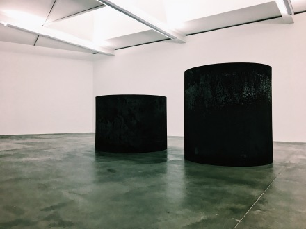 Richard Serra, Rounds: Equal Weight, Unequal Measure, 2016, via Art Observed