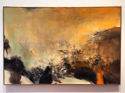 Zao Wou-Ki, 05-03-76 (1976), via Art Observed