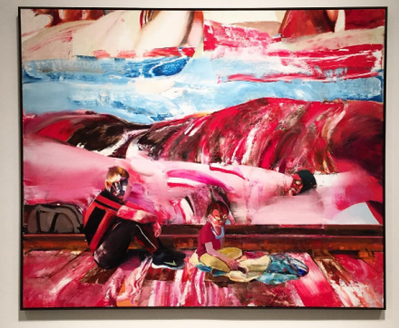 Adrian Ghenie, Rest During the Flight into Egypt (2016), via Art Observed