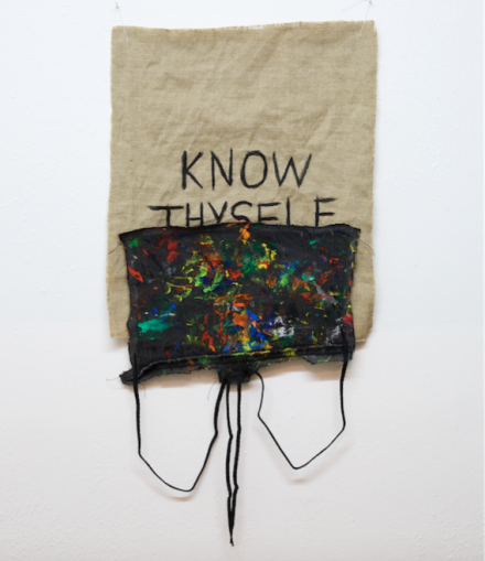 B. Wurtz, Untitled (Know Thyself) (2015), via Lulu Gallery