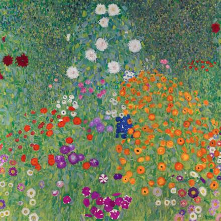Gustav Klimt, Bauerngarten (Blumengarten) (1907), via Sotheby's