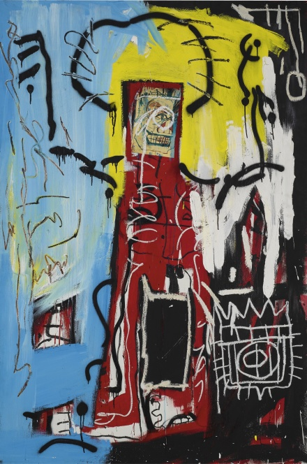 Jean-Michel Basquiat, Untitled (One Eyed Man or Xerox face) (1982), via Sothebys