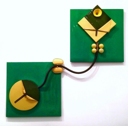 Miguel Ángel Cárdenas, Green Couple (1966), via Kelly Lee for Art Observed