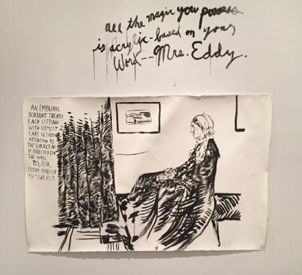 Raymond Pettibon, A Pen of All Work (Installation View), via Art Observed