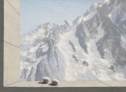 René Magritte, Le Domaine d'Arnheim (1938), via Christie's