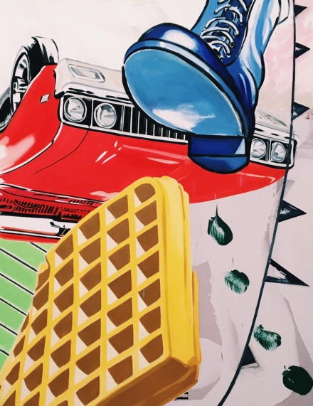 David Salle, Exhibition View, 2016, via Art Observed
