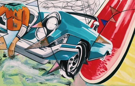 David Salle (Exhibition View), 2016, via Art Observed