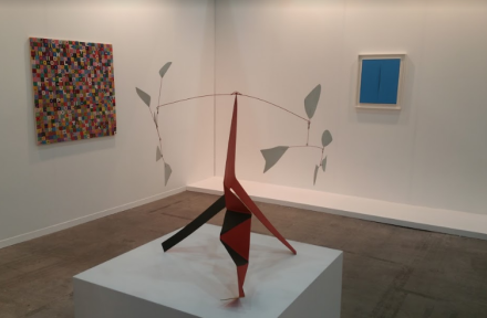 The booth at Cardi Gallery, via Art Observed