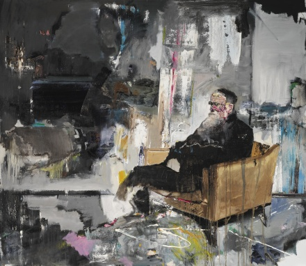 Adrian Ghenie, Self-Portrait of Charles Darwin (2011), via Sotheby's