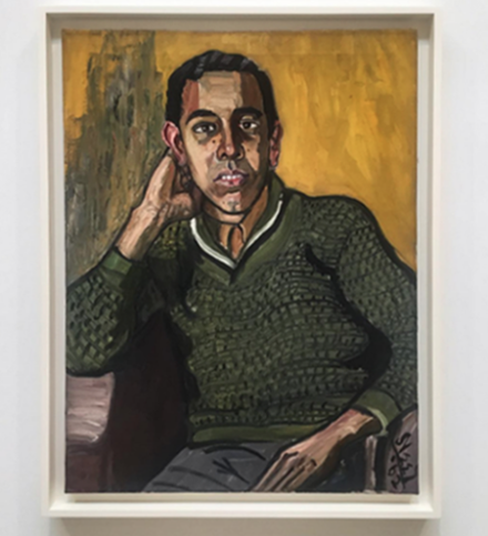 Alice Neel, Anselmo (1962), via Art Observed