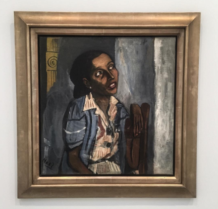 Alice Neel, Mercedes Arroyo (1952), via Art Observed