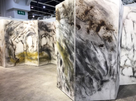 Cai-Guo Qiang at Eslite Gallery, via Vivienne Shi for Art Observed
