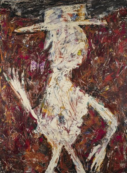 Jean Dubuffet, L'Homme au Papillon (1954), via Sotheby's