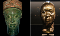 Comparison of the Damien Hirst and Ife Ife heads, via CNN