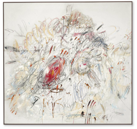 Cy Twombly, Leda and the Swan (1962), via Christie's