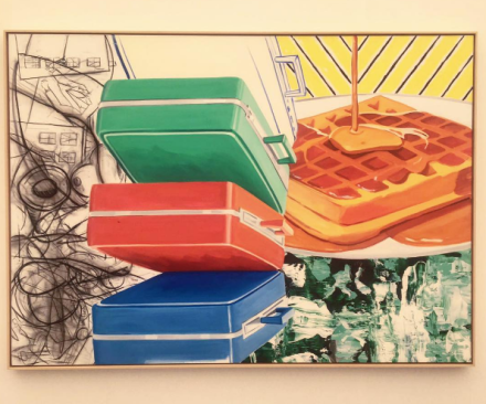 David Salle at Skarstedt Gallery, via Art Observed