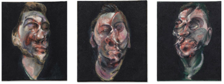 Francis Bacon, Three Studies for a Portrait of George Dyer (1963), via Christies