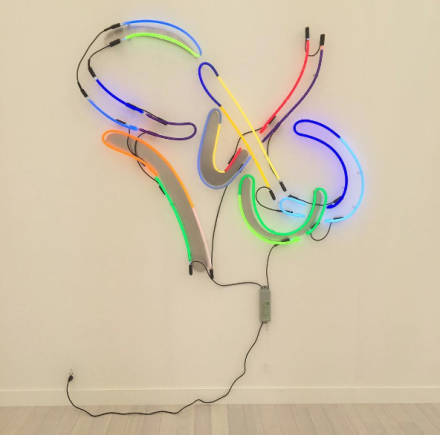 Keith Sonnier at Pace, via Art Observed