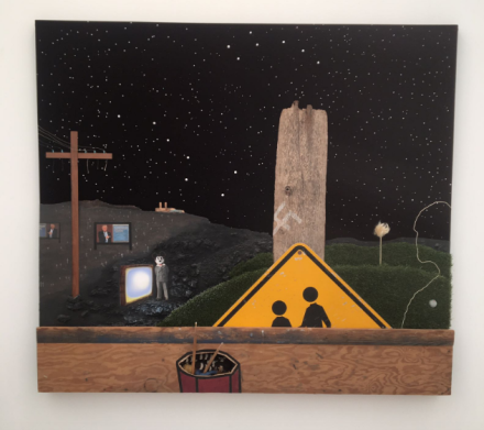Llyn Foulkes at Sprüth Magers, Frieze New York, via Art Observed
