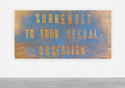 Mark Flood, Surrender (2017), via Peres Projects