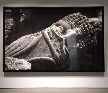 Robert Longo, Untitled (Destroyed Head of Lamassu, Nineveh (2016), via Art Observed