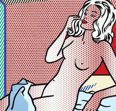 Roy Lichtenstein, Nude Sunbathing(1995), via Sotheby's