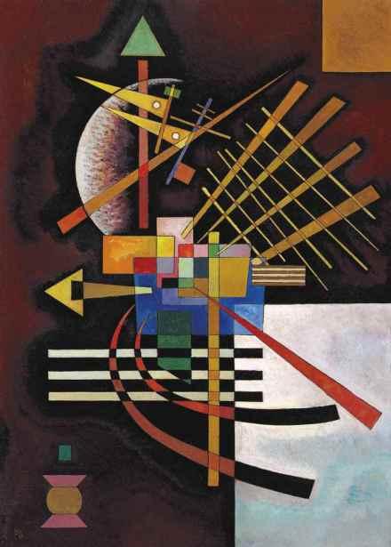 Wassily Kandinsky, Oben und Links (1925), via Christie's