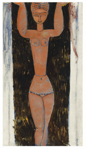 Amedeo Modigliani, Cariatide (1913) final price £6,885,000, via Christies