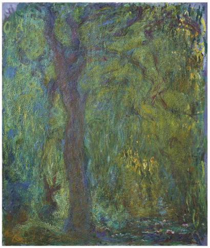 Claude Monet, Saule pleureur (1918-19) final price £8,901,000, via Christies