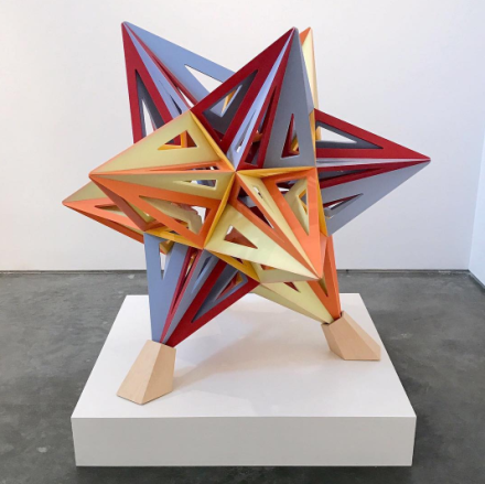 Frank Stella, Corian Star (2017), via Art Observed