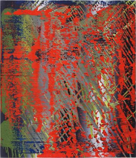Gerhard Richter, Abstraktes Bild (682-4) (1988) final price £2,389,000, via Phillips
