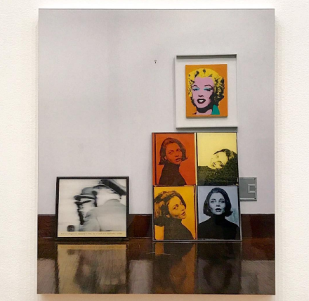 Louise Lawler, Life After (Faces), (2006:2007), via Art Observed