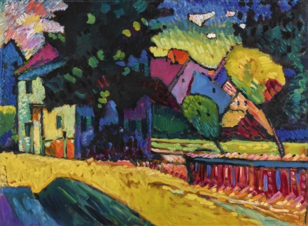 Wassily Kandinsky, Murnau – Landscape with Green House (1909), via Sothebys