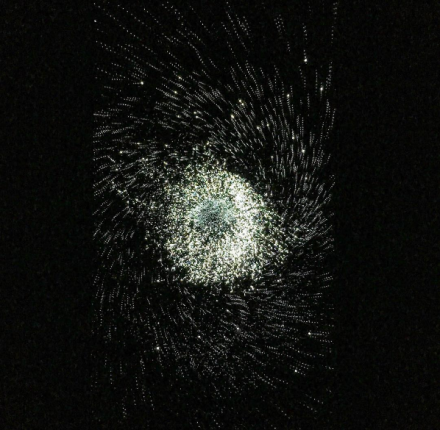 Leo Villareal, Particle Field 1 (2017), via Art Observed