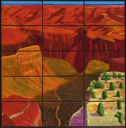 David Hockney, 15 Canvas Study of the Grand Canyon (1998), via Sothebys