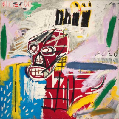 Jean-Michel Basquiat, Red Skull (1982), via Christie's