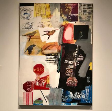 Robert Rauschenberg, Overdrive (1963), via Art Observed