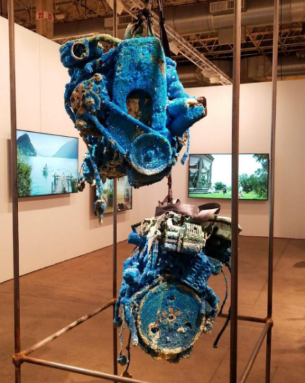 Roger Hiorns at Luhring Augustine, via Art Observed